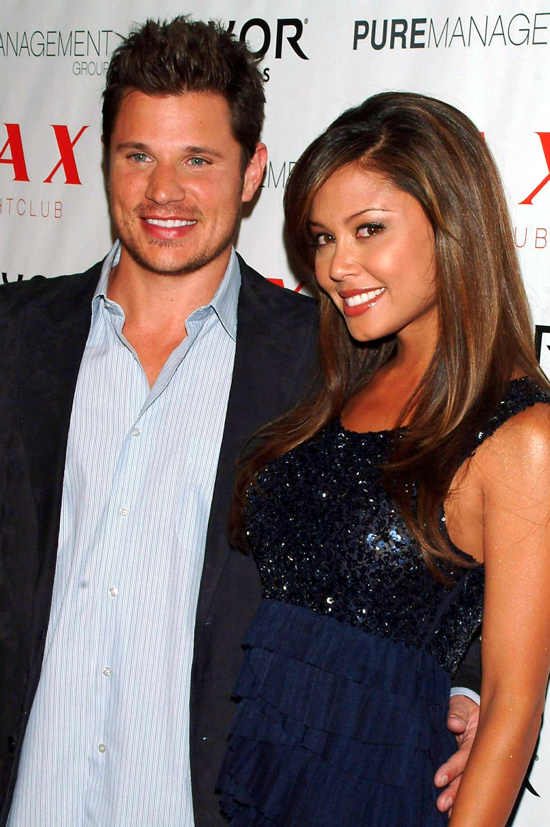 Vanessa Minnillo and Nick Lachey at and Vanessa Minnillo celebrate their birthdays, LAX nightclub, Luxor Hotel and Casino, Las Vegas, on Nov 14
