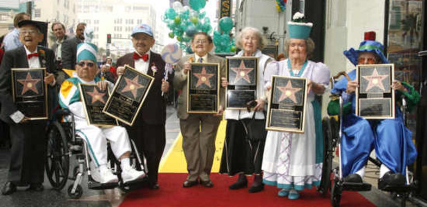 'The Munchkins' Receiving a Star on the Hollywood Walk Of Fame, Los Angeles, on Nov 20