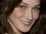 Carla Bruni-Sarkozy at the Guildhall state banquet in honour of The President of the French Republic 