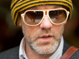 Michael Stipe leaving the Radio 1 studios in London