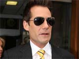 Adrian Pasdar (star of heroes) leaving the studios of Radio 1. London, Britain