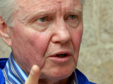 Jon Voight hosts a barbecue for victims of terrorism in Jerusalem, Israel