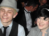 Kelly Osbourne and boyfriend Luke at a Night of Tease charity fundraiser, Cafe de Paris, London