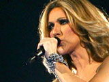 Celine Dion in concert at the Palais Omnisport in Bercy, Paris