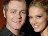 Brian McFadden and Delta Goodrem at Austral Bar in Sydney