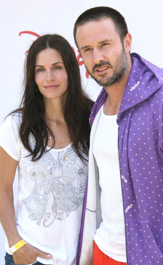 Courteney Cox and David Arquette at the 'A Time for Heroes' Celebrity Carnival in Los Angeles, America