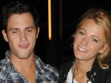 Blake Lively and Penn Badgley leaving Nobu Restaurant, New York