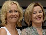 Agnetha and Annifrid at the Mamma Mia! Premiere