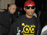 Pharrell Williams at his party at the Maddox club, London