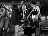 AC/DC in concert in the 70s