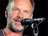 Sting (aka Gordon Sumner) performing at the 'Rock in Rio' music festival, in Arganda del Rey, Madrid, Spain