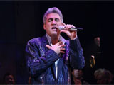 Taylor Hicks performing in &#39;Grease&#39; the musical, Broadway, New York