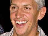 Gary Lineker and his girlfriend Danielle Bux in Cardiff