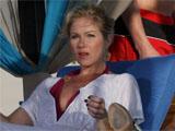 Christina Applegate on set of 'Samantha Who?'