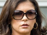Catherine Zeta Jones at the funeral of her grandmother Zeta Jones