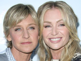 Ellen DeGeneres and Portia de Rossi at the 'Yes! on Prop 2' to Stop Animal Cruelty Event in Los Angeles