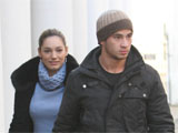 Kelly Brook and Danny Cipriani leaving their London home