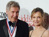 Harrison Ford and Calista Flockhart at the 6th Annual 'Living Legends of Aviation Award' honoring Harrison Ford