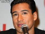 Mario Lopez, host of the Miss America Pageant 2009, holds a press conference in Las Vegas