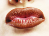 Lips kissing