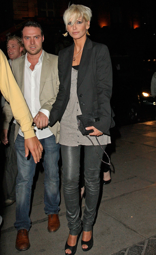 Sarah Harding and Tom Crane at London Fashion Week