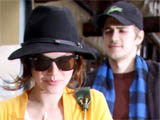 Newly engaged couple Rachel Bilson and Hayden Christensen leaving the Marmalade Cafe after having lunch in Malibu, California