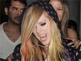 Avril Lavigne spends a night on the town in London, taking in a few of the city's most exclusive nightclubs.