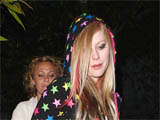 Avril Lavigne departs Koi restaurant, Los Angeles