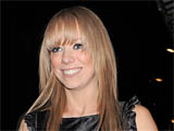 Liz McClarnon walking in Mayfair, London