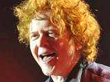 Mick Hucknall of Simply Red performing 'Greatest Hits Tour 2009' concert in Amsterdam.