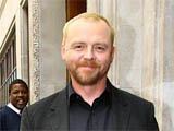 Simon Pegg outside BBC Radio One after appearing on the Edith Bowman show, London