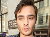 Ed Westwick from Gossip Girl leaving the BBC radio one studios, London