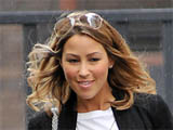 Rachel Stevens leaving GMTV studios carrying a large Louis Vuitton bag, London