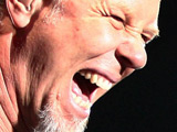 James Hetfield on stage at Metallica's concert in Hamburg
