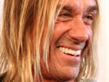 Iggy Pop promotes his new record at a shop in Paris