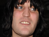 Noel Fielding and Alison Mosshart outside the Groucho Club in London