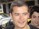Orlando Bloom arriving at JFK International from London's Gatwick Airport