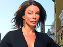 Danielle Staub reportedly films the music video for her new single 'Cry'.