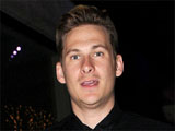 Lee Ryan of boy band 'Blue' leaves his hotel in London.
