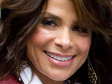 Paula Abdul stops to sign autographs before her appearance on Letterman