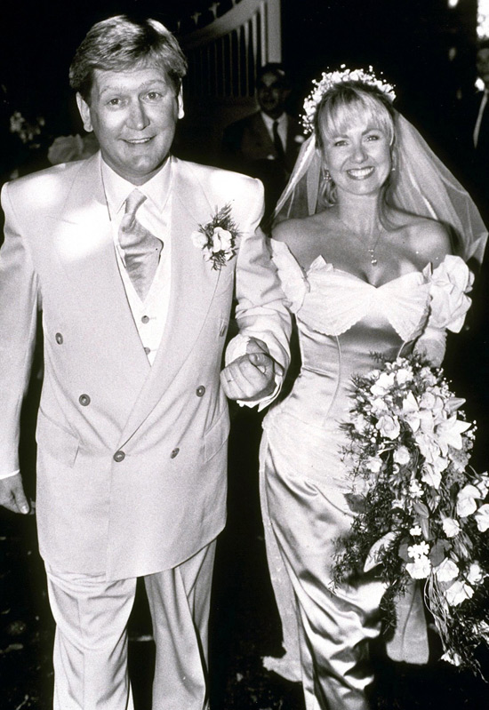 Former Husband and wife: Sara Greene and Mike Smith at their wedding ceremony