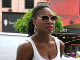 Serena Williams seen shopping for jeans at designer store True Religion on Robertson Blvd, LA