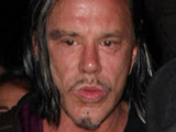 Mickey Rourke arrives at My House nightclub with friends. Los Angeles, California.