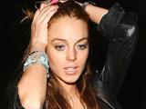 Lindsay Lohan arriving at H.Wood nightclub, Los Angeles