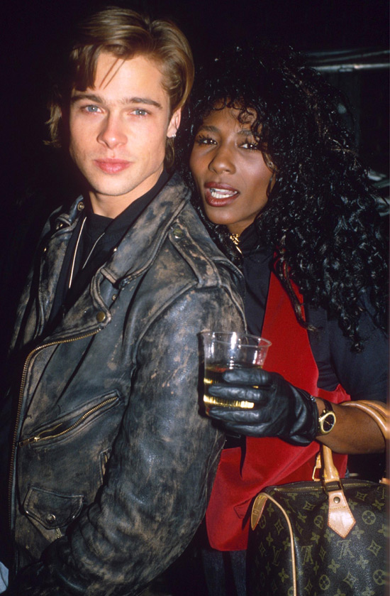 Sinitta with some chap called Brad Pitt in 1988. Whatever happened to him?