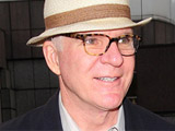 Steve Martin outside the Ivy restaurant. London, England.
