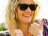Edith Bowman at T In The Park 2009. Kinross, Scotland.