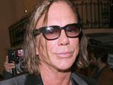 Mickey Rourke at the Jean-Paul Gaultier event at Paris Fashion Week