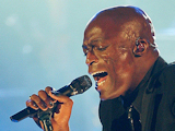 Singer Seal performing in concert at the Palais Omnisport of Paris