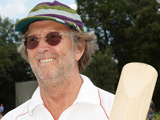 Eric Clapton captaining a Bunbury charity cricket match in Surrey, England